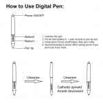 P68 - Professional Graphic Drawing Replacement Tablet Pen - Battery Cell